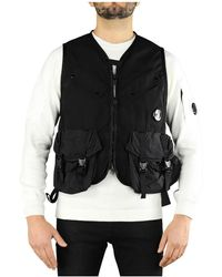C.P. Company - Taylon P Black Vest - Lyst