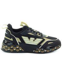 Emporio Armani Goud Mesh Sneaker - Zwart