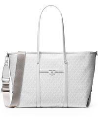 Michael Kors Beck Large Shopping Bag - White