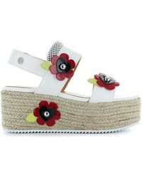 Love Moschino - White Leather Wedges - Lyst