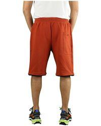 C.P. Company Diagonal Raised Fleece Gebrande Oker Bermuda Shorts - Oranje