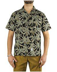 Department 5 Awa Overhemd Met Korte Mouwen - Groen