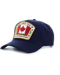 DSquared² Marineblauw Patch Baseball Cap