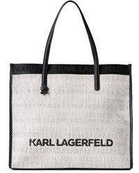 Karl Lagerfeld K/skuare Witte Zwarte Shopper