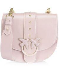 Pinko Simply Round Lichtroze Love Bag Tas