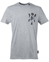 Philipp Plein Ss Stones Skull T-shirt - Grijs
