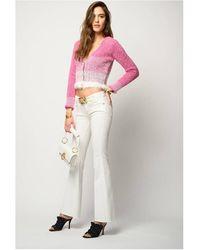 Pinko Feliz 3 Flare Witte Jeans
