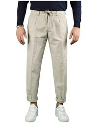 White Sand Beige Trousers - Natural