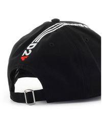 DSquared² Line Baseball Cap - Zwart
