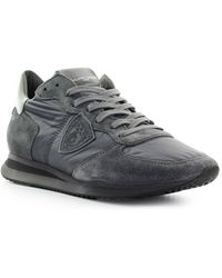 Philippe Model Trpx Mondial Antraciet Grijze Sneaker - Grijs