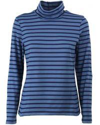 Saint James Oural T-shirt Met Lange Mouwen - Blauw