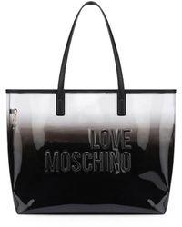 Love Moschino SCHATTIERTEN EFFEKT SHOPPERTASCHE - Schwarz