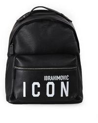 DSquared² Icon Ibrahimovicx Zwart Rugzak