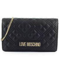 Love Moschino Quilted Clutch - Zwart