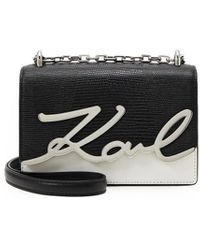 Karl Lagerfeld K/signature Zwart Wit Crossbody Tas