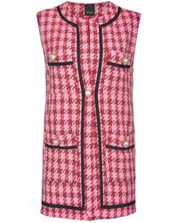Pinko Egoista Macrocheck Rode Waistcoat - Roze