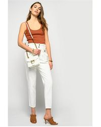 Pinko New Cara 1 Carrot Fit Witte Jeans