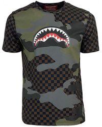 Sprayground Camo Shark Bruin T-shirt