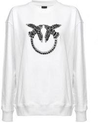 Pinko Nelly 2 Black Sweatshirt - White