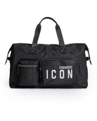 DSquared² Be Icon White Duffle Bag - Black