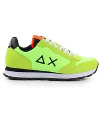Sun68 Tom Solid Nylon Fluo Sneaker - Groen