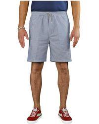 Department 5 Lichtblauwe Wit Bermuda Shorts