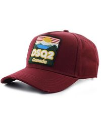 DSquared² Dsq2 Canada Bourgondië Baseball Cap - Rood