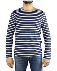 Saint James - Minquiers Modern Marineblauw T-shirt Met Lange Mouwen - Lyst
