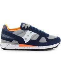 Saucony Shadow Original Marineblauwe Grijze Oranje Sneaker