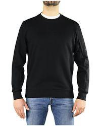 C.P. Company Diagonal Raised Fleece Sweatshirt - Zwart