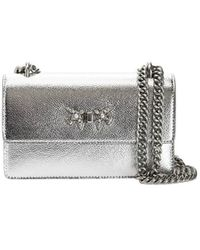 Pinko Free Flight Mini Bubbles C Zilver Crossbody Tas - Metallic