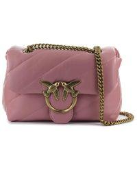 Pinko Love Mini Puff Maxi Quilt 5 Cl Crossbody Tas - Roze