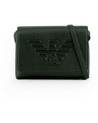 Emporio Armani Maxi Logo Green Shoulder Bag