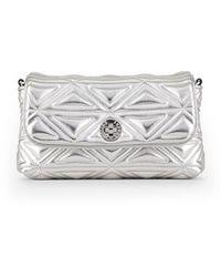 Emporio Armani Silver Handbag - Metallic