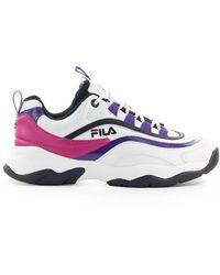 Fila Cb Low Wmn Paars Zwart Sneaker - Wit