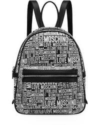 Love Moschino MOCHILA NEGRA LOGO BLANCO - Negro
