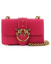 Pinko Love Mini Icon Simply 4 C Magenta Crossbodytas - Roze