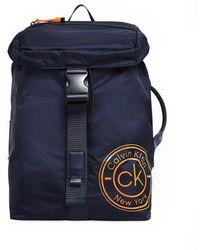 Calvin Klein Navy Blue Backpack Whit Flap