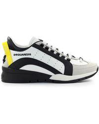 DSquared² 551 Wit Geel Sneaker - Meerkleurig