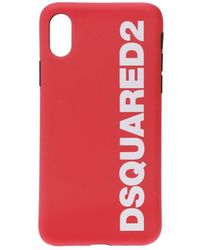 DSquared² Wit Rood Logo Iphone X Cover