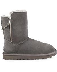 ad69f454e8e Grey Classic Short Sparkle Zip Boot - Gray