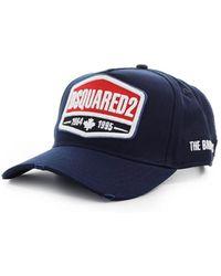 DSquared² Logo Patch Marineblauwe Baseball Cap