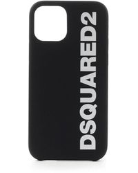 DSquared² Iphone 12 Pro Cover With Logo - Black