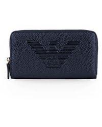 Emporio Armani Blue Zip Wallet