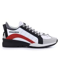 DSquared² BASKETS 551 BLANC ROUGE