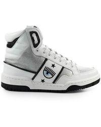 Chiara Ferragni Cf1 High Zilver Sneaker - Wit