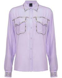 Pinko Rilassato Lila Overhemd Met Studs - Paars