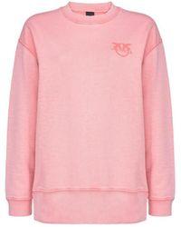 Pinko Sano Cotton Sweatshirt - Pink