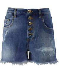 Pinko Dido Denim Shorts - Blauw