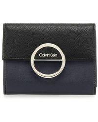 Calvin Klein Mix Zwart Blauw Portmonnee